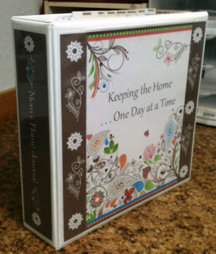 Make a Household Planner Notebook: Choosing a Cover - Swirly