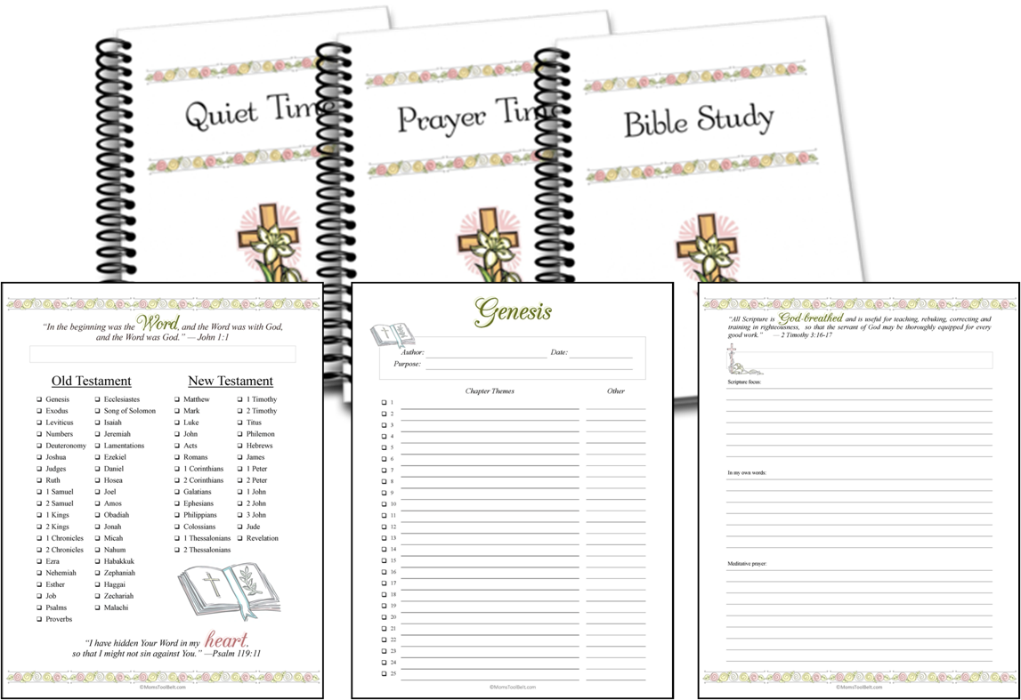 Bible Study and Quiet Time Pages
