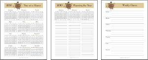 AT-A-GLANCE PLANNING PAGES