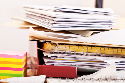 Make a Household Planner Notebook: Stacks of Paper
