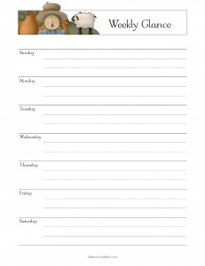 Make a Household Planner Notebook: At-a-Glance Weekly Page
