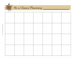 Make a Household Planner Notebook: At-a-Glance Planning Boxes