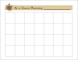 Make a Household Planner Notebook #3-1: Plan Your Week