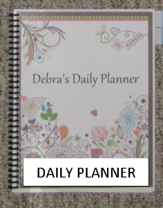 Make a Household Planner Notebook: Debra's Spiral-Bound Daily Planner