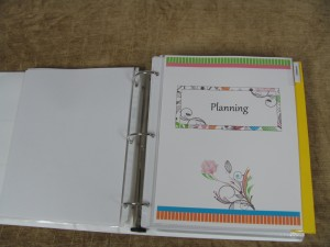 Make a Household Planner Notebook: Planning Divider Page