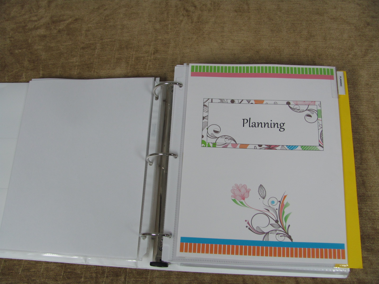 how to create a budget notebook