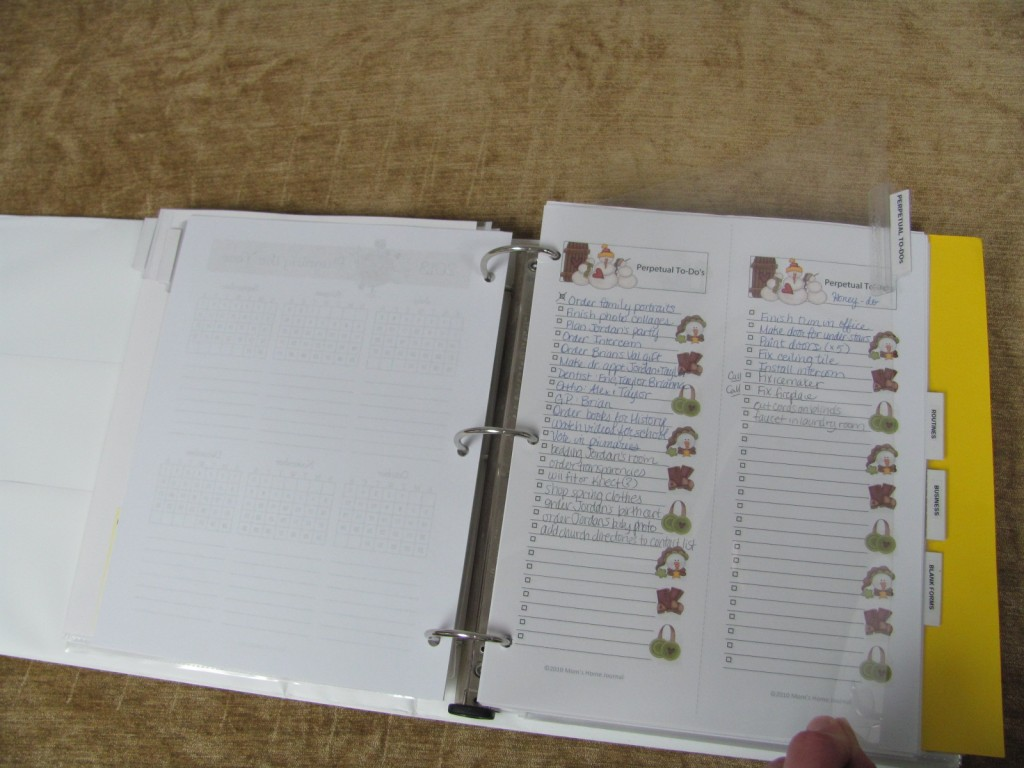 Make a Household Planner Notebook: Perpetual To-Do Lists