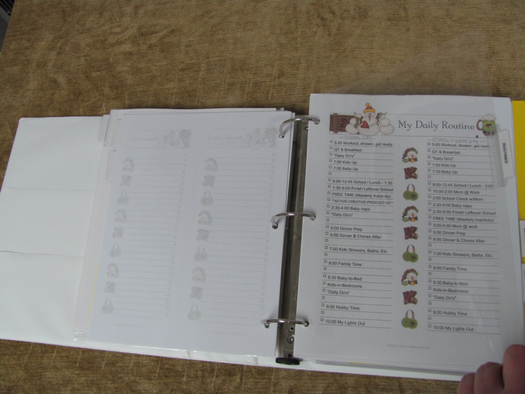 Make a Household Planner Notebook