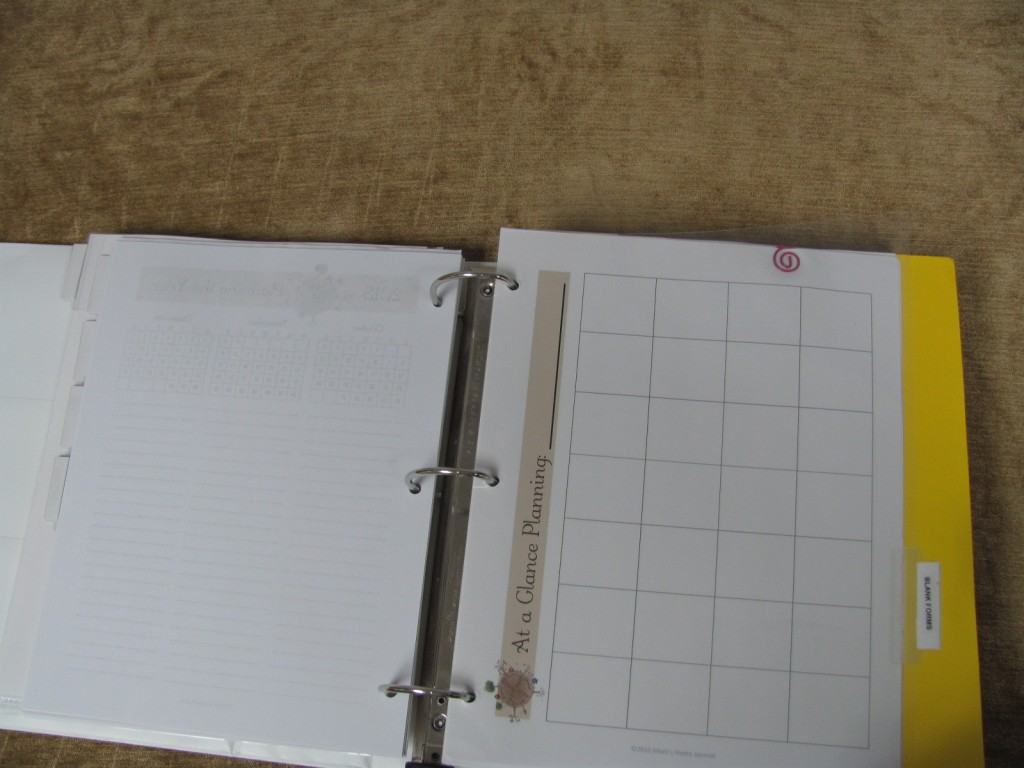Make a Household Planner Notebook: Blank Forms
