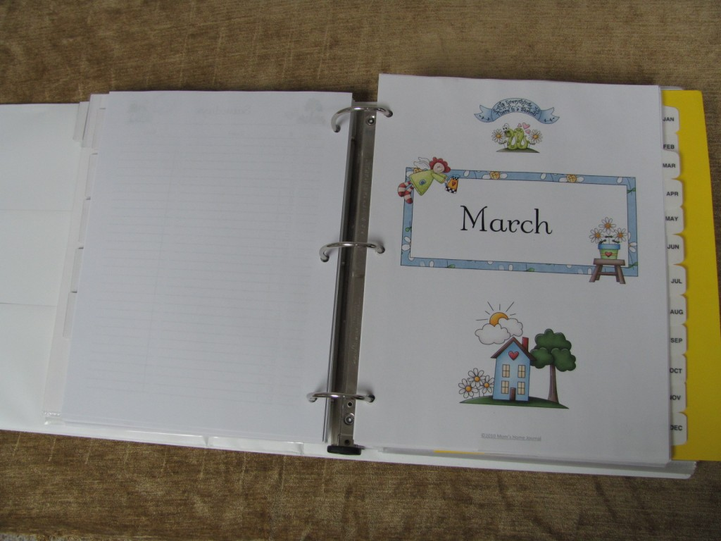 Make a Household Planner Notebook: Calendars