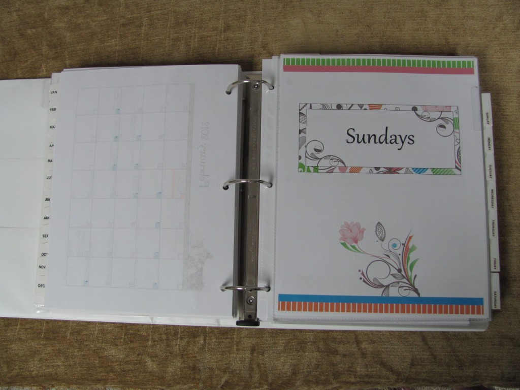Make a Household Planner Notebook: Days of the Week
