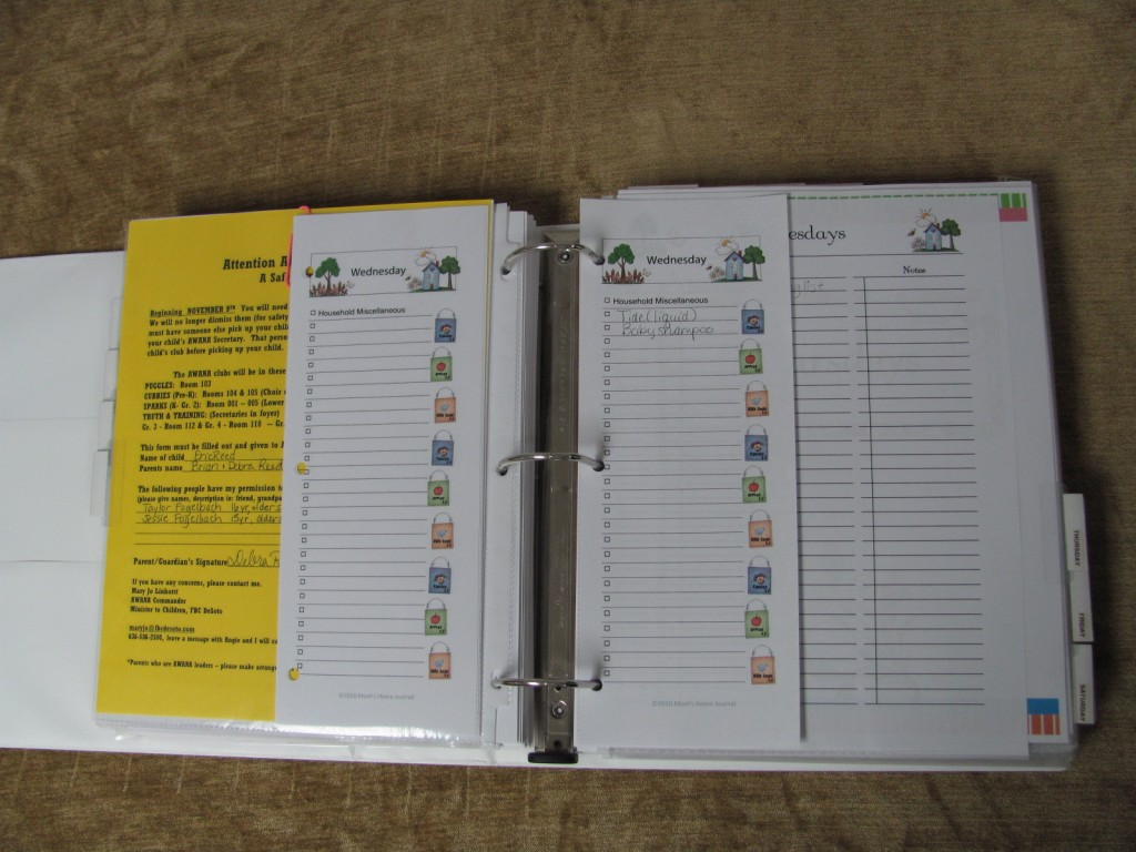 Make a Household Planner Notebook: Daily Checklists