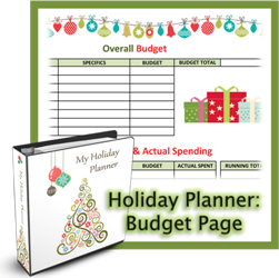 Holiday Planner Budget Page