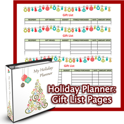 Holiday Planner Gift List Printables