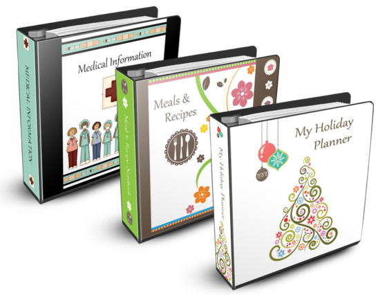 Menu Planner,  Holiday Planner, Medical Planner