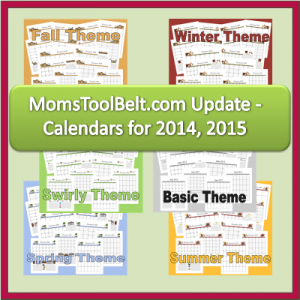 New 2015 Calendars & 2014-2015 Homeschool Calendars